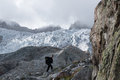 Abstieg über den Glacier Blanc